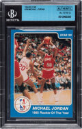 """Basketball Cards:Singles (1980-Now), 1985 Star """"1985 Rookie of the Year"""" Michael Jordan #288 BGS Authentic...."""