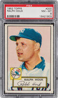 Baseball Cards:Singles (1950-1959), 1952 Topps Ralph Houk #200 PSA NM-MT 8. Offered is...