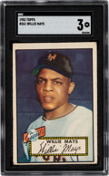 Baseball Cards:Singles (1950-1959), 1952 Topps Willie Mays #261 SGC VG 3. Willie Mays...