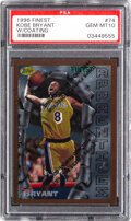 Basketball Cards:Singles (1980-Now), 1996 Finest Kobe Bryant (With Coating) #74 PSA Gem Mint 10...