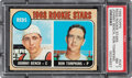 Baseball Cards:Singles (1960-1969), 1968 Topps Johnny Bench - Reds Rookies #247 PSA NM 7.