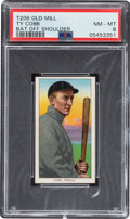 Baseball Cards:Singles (Pre-1930), 1909-11 T206 Old Mill Ty Cobb (Bat Off Shoulder) PSA NM-MT 8 - Pop Two, One Higher for Brand! ...
