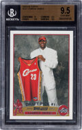 Basketball Cards:Singles (1980-Now), 2003 Topps LeBron James #221 BGS Gem Mint 9.5. Off...