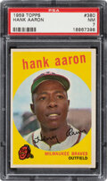 Baseball Cards:Singles (1950-1959), 1959 Topps Hank Aaron #380 PSA NM 7. Offered is a ...