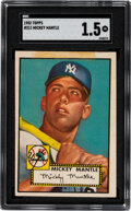 Baseball Cards:Singles (1950-1959), 1952 Topps Mickey Mantle #311 SGC FR 1.5. The lege...