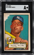 Baseball Cards:Singles (1950-1959), 1952 Topps Mickey Mantle #311 SGC Authentic. Any ...