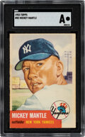 """Baseball Cards:Singles (1950-1959), 1953 Topps Mickey Mantle #82 SGC Authentic. """"The C..."""