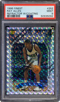 Basketball Cards:Singles (1980-Now), 1996 Finest Ray Allen #252 (Refractor-With Coating) PSA Mi...