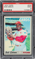 Baseball Cards:Singles (1970-Now), 1970 Topps Bob Gibson #530 PSA Mint 9. Offered is ...
