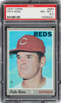Baseball Cards:Singles (1970-Now), 1970 Topps Pete Rose #580 PSA NM-MT+ 8.5. Offered ...
