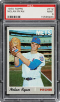 Baseball Cards:Singles (1970-Now), 1970 Topps Nolan Ryan #712 PSA Mint 9. After the M...