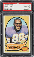Football Cards:Singles (1970-Now), 1970 Topps Alan Page #59 PSA Gem Mint 10. Alan Pag...
