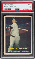 Baseball Cards:Singles (1950-1959), 1957 Topps Mickey Mantle #95 PSA VG 3. Four years ...