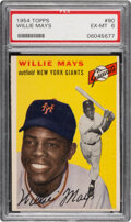 Baseball Cards:Singles (1950-1959), 1954 Topps Willie Mays #90 PSA EX-MT 6. With acrob...