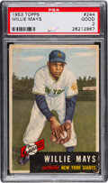 """Baseball Cards:Singles (1950-1959), 1953 Topps Willie Mays #244 PSA Good 2. """"The Say H..."""