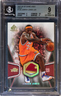 Basketball Cards:Singles (1980-Now), 2007 SP Game Used Edition LeBron James Patch (Gold) #126 B...