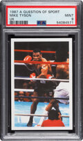 Boxing Cards:General, 1987 A Question of Sport Mike Tyson (UK) PSA Mint 9....