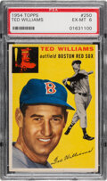 Baseball Cards:Singles (1950-1959), 1954 Topps Ted Williams #250 PSA EX-MT 6. The all-...