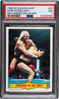 Boxing Cards:General, 1986 Scanlens WWF Pro Wrestling Stars Hulk Hogan - Stretched To The Limit! #29 PSA NM 7 - Pop One, None Higher!...