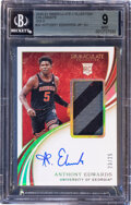 Basketball Cards:Singles (1980-Now), 2020 Immaculate Collection Collegiate Anthony Edwards (Jer...