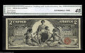 Large Size:Silver Certificates, Fr. 247 $2 1896 Silver Certificate CGA Extremely Fine 45. ...