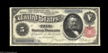 Large Size:Silver Certificates, Fr. 267 $5 1891 Silver Certificate Choice About New. Minor ...