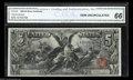 Large Size:Silver Certificates, Fr. 268 $5 1896 Silver Certificate CGA Gem New 66. This $5 ...