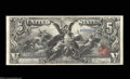 Large Size:Silver Certificates, Fr. 268 $5 1896 Silver Certificate Extremely Fine. A ...