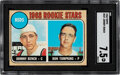 Baseball Cards:Singles (1960-1969), 1968 Topps Johnny Bench - Reds Rookie Stars #247 SGC NM+ 7.5....