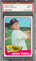 Baseball Cards:Singles (1960-1969), 1965 Topps Mickey Mantle #350 PSA NM 7. his card h...