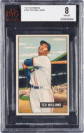 Baseball Cards:Singles (1950-1959), 1951 Bowman Ted Williams #165 BVG NM-MT 8. There a...