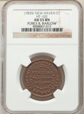 Hard Times Tokens, (1835) Token Fobes & Barlow, HT-102, R.2, AU55 NGC. New Haven, CT. Copper, plain edge, 28mm....