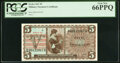 Military Payment Certificates:Series 661, Series 661 $5 Three Consecutive Examples. PCGS Currency Gem New 66PPQ,. ... (Total: 3 notes)