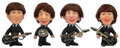 Music Memorabilia:Toys, The Beatles Set of Remco Dolls with Instruments (4) (NEMS, 1964)....
