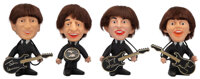 The Beatles Set of Remco Dolls with Instruments (4) (NEMS, 1964)