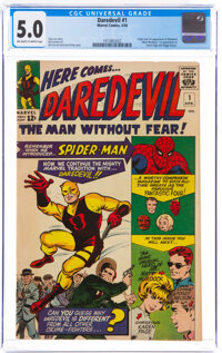 Daredevil #1 (Marvel, 1964) CGC VG/FN 5.0 Off-white to white pages