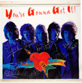 Music Memorabilia:Autographs and Signed Items, Tom Petty & the Heartbreakers Signed and Inscribed You're Gonna Get It! Promo Banner (1978). ...