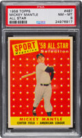 Baseball Cards:Singles (1950-1959), 1958 Topps Mickey Mantle All-Star #487 PSA NM-MT 8.