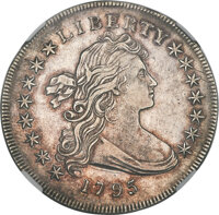 1795 $1 Draped Bust, Centered, B-15, BB-52, R.2 -- Cleaned -- NGC Details. XF....(PCGS# 39995)