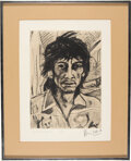 """Music Memorabilia:Autographs and Signed Items, Ronnie Wood Signed """"Self Portrait"""" Limited Edition Print M..."""