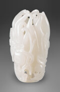 Carvings, A Chinese White Jade Buddha's Hand. 2-3/4 x 1-3/4 x 0-3/4 inches (7.0 x 4.4 x 1.9 cm). ...