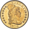 1804 $5 Small 8, BD-3, R.5, -- Obverse Tooled, Cleaned -- ANACS. AU55 Details....(PCGS# 519893)
