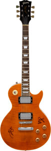 Musical Instruments:Electric Guitars, Jimmy Page and Robert Plant Signed Gibson Les Paul (Serial #017160654)....