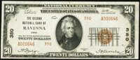 Ravenna, OH - $20 1929 Ty. 2 The Second National Bank Ch. # 350 Very Fine