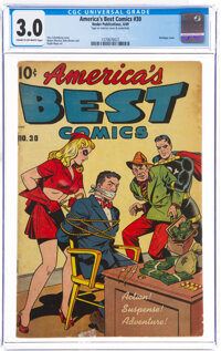 America's Best Comics #30 (Nedor Publications, 1949) CGC GD/VG 3.0 Cream to off-white pages