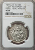 So-Called Dollars, 1909 Alaska-Yukon-Pacific Exposition, Official Medal, without Loop, HK-353, MS63 NGC....