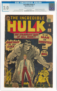 The Incredible Hulk #1 (Marvel, 1962) CGC GD 2.0 Cream to off-white pages