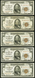 Small Size:Federal Reserve Bank Notes, Fr. 1880-D; L (4) $50 1929 Federal Reserve Bank Notes. Ver...