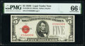 Small Size:Legal Tender Notes, Fr. 1530 $5 1928E Legal Tender Note. PMG Gem Uncirculated ...