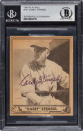 Autographs:Sports Cards, Signed 1940 Play Ball Casey Stengel #141 BAS Auto Authentic. ...